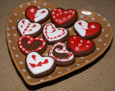 Galletas decoradas con Glassa para San Valentin