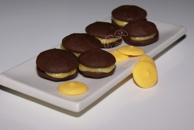 Whoopies de Chocolate y naranja